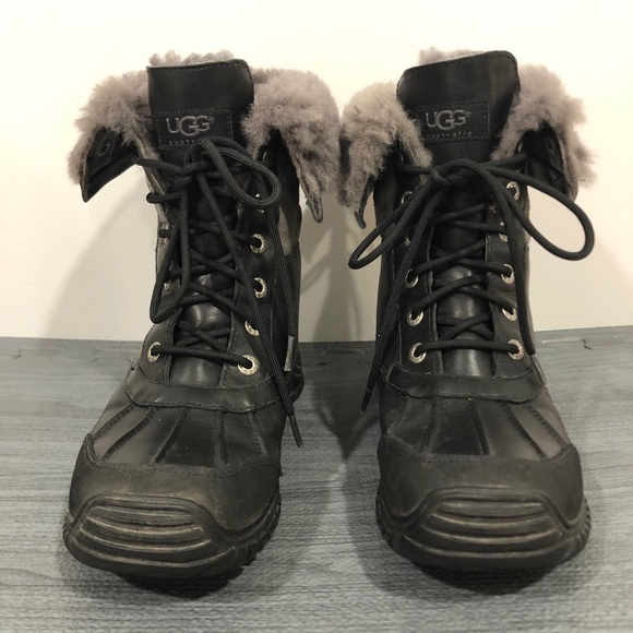 Adirondack Black Gray Vibram Sole Boots